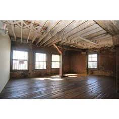An Empty Loft Becomes Warm and Inviting found on Polyvore featuring rooms, empty rooms, backgrounds, home and photos