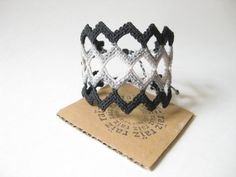 Geometric Friendship Bracelet Macramé Wide Wristband by raiz