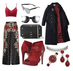 """""""📍"""" by lucya-knight ❤ liked on Polyvore featuring River Island, Charlotte Russe, MICHAEL Michael Kors, Givenchy, Quay, Assya London and Anne Klein"""