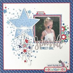 I just love this photo of Hannah and thought it worked perfectly with the Yankee Doodle collection from Doodlebug Design. I also used the Catching Stars cut file from Confessions of a Paper Addict. Love Scrapbook, Baby Boy Scrapbook, Scrapbook Layout Sketches, Scrapbooking Layouts, Scrapbook Pages, Love Thoughts, Image Layout, Cute Doodles, Photo Layouts