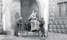 Berta Benz on her husbands first car invention c.1888 by GalleryLF