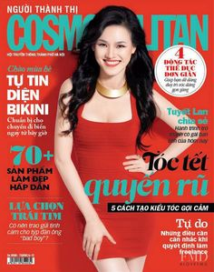Hot Coral - Lan Tuyet featured on the Cosmopolitan Vietnam cover from May 2012