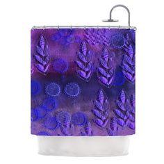 """Marianna Tankelevich """"Summer Night"""" Purple Lavender Shower Curtain"""