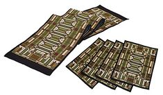 Frank Lloyd Wright Oak Park Skylight Tapestry Table Runner & Place Mats