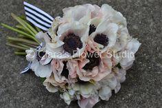 Anemones Bridal Bouquet #freshflowers #wedding #bouquets #anemones #sydneyflorist #floraldesigner #clarasflowerstudio