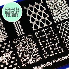 Blogger Collaboration Nail Art Polish Stamping Plates - BM-XL205, Magically Polished