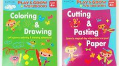 Kumon Workbooks Age 4+ Colour & Draw / Cut & Paste Fun Activity Story Books New