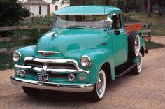 isnt she gorgeous!? 1954 Chevy Series 3100 Pickup! back when they made cars and trucks to last!