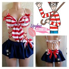 Wheres Waldo Costume for Halloween EDC by LipglossWear on Etsy, $125.00