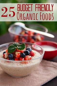 Eating organic doesn't have to be expensive! These 25 Budget Friendly Organic Foods prove it! Be sure to add them to your next grocery list!