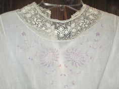 Victorian era white cotton embroidered by sweetalicelovesyou, $48.00