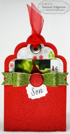 GIFT CARD POCKET Tag by Tammie Edgerton #Tags, #GiftGiving, #Christmas