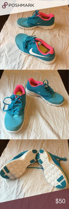 New nike shoes 3 youth size 7(Big girls) I bought these cute running sneakers really loved the way the look but wrong size... Too big on me... Nike Shoes Sneakers