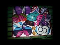 DIY- African Fabric Cover Button Earrings - YouTube