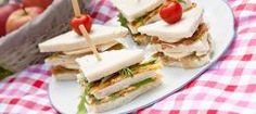 High Tea recipes.  Sandwiches met omelet parmaham