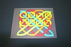 Easy paper crafts celtic design 12 circles add second row Easy Paper Crafts, Diy And Crafts, Arts And Crafts, School Art Projects, Art School, Acrylic Painting Flowers, Paper Weaving, Triquetra, Celtic Art