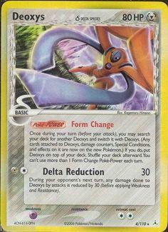 Pokemon Card EX Holon Phantoms Holo Rare Deoxys 4/110 FREE Combined Shipping