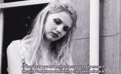 Skins - Cassie ''Dont say you love me unless you mean it''