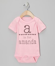 Loving this Pink Hearts Personalized Bodysuit - Infant on #zulily! #zulilyfinds