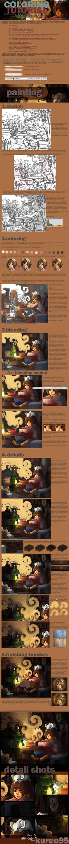 Coloring Tutorial by ~kureo95 ✤ || CHARACTER DESIGN REFERENCES | キャラクターデザイン | çizgi film • Find more at https://www.facebook.com/CharacterDesignReferences & http://www.pinterest.com/characterdesigh if you're looking for: #color #theory #contrast #animation #how #to #draw #paint #drawing #tutorial #lesson #balance #sketch #colors #digital #painting #process #line #art #tips || ✤