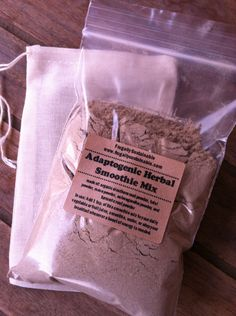 Adaptogenic Herbal Smoothie Mix...this is instant energy in a herbal powder form!!!