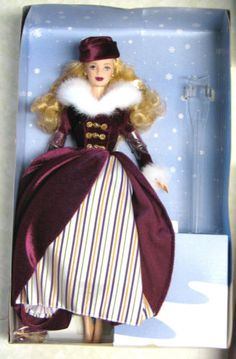 1999 VICTORIAN ICE SKATER HOLIDAY COAT BARBIE DOLL NEW NRFB