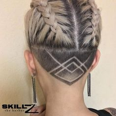 Hair Tattoo for Men and Women - Trendy designs for your new tribal styling - Neue Haare frisuren ideen 2019 - Undercut Hairstyles Women, Cool Hairstyles, Wedding Hairstyles, Shaved Hairstyles, Pixie Haircuts, Pixie Hairstyles, Undercut Women, Medium Hairstyles, Latest Hairstyles