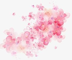 watercolor flowers shading, Pink Flowers, Watercolor, -painted Material PNG and PSD Watercolor Rose, Watercolor Design, Watercolor Background, Watercolour Painting, Painting Flowers, Flower Images, Flower Art, Art Tumblr, Arte Floral
