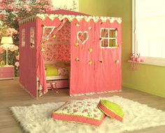 Kids Bedroom Cute And Colorful Toddler Bedroom Ideas Bedroom Kids Room Design With Pink Tent And Yellow Wall Paint Color And White Rug To Inspire You Kids Bedroom Ideas Cute And Colorful Toddler Bedroom Ideas Kids Room Bed, Bedroom For Girls Kids, Teenage Girl Bedroom Designs, Cool Kids Rooms, Teenage Girl Bedrooms, Little Girl Rooms, Girls Tent, Girls Canopy, Kid Bedrooms