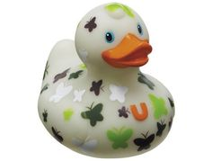 Bud Mini Rubber Duck Bath Tub Toy, Butterfly by BUD. $5.49. Bud Ducks are the world's most collectible rubber duck. The classic rubber duck has been given a deluxe designer make over by Bud at the DesignRoom. Butterfly duck features a white body decorated with green and white butterflies. It is the perfect gift for the Bud Duck collector. Made from phthalate free PVC. Packaged in a transparent gift box. Not intended for children under 3.
