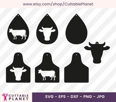 Diy Leather Earrings, Diy Earrings, Leather Jewelry, Silhouette Cameo Freebies, Cattle Tags, Cow Ears, Leaf Template, Pretty Designs, Leather Crafts