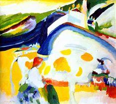 'le vache', huile sur toile de Wassily Kandinsky (1866-1944, Russia)