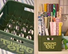 Storing excess wrapping paper