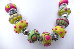 Charm bead polymer clay beads by Liz Welch