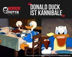 Donald Duck ist ein Kannibale  #horrorfakten #childhoodruined