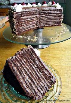 Polish Desserts, Polish Recipes, Food Cakes, Delicious Deserts, Yummy Food, Bolo Nacked, Cake Recept, Desert Recipes, Chocolate Desserts