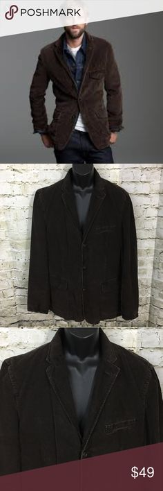 """J Crew Brown Washed Corduroy Sports Coat Jacket J Crew Men's Brown Corduroy Sports Coat Size Large in good used condition with no flaws.  Measurements: Underarm to underarm: 22"""" Shoulder to hem: 29.5"""" J. Crew Suits & Blazers Sport Coats & Blazers"""
