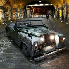 wow i love this i hope it comes with the chopped roof, i would to turn up to a land rover gathering in this Beauty