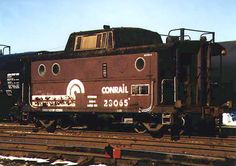 ex PRR N5C Class, 23065  Cleveland. OH This is one of the N-5Cs that was painted brown for PP&L unit train service.  March 15, 1997