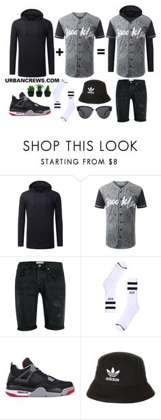 """""""URBANCREWS Button Down Baseball Jersey Shirt"""" by urbancleo ❤ liked on Polyvore featuring Topman, HUF, NIKE, adidas, mens, men, men's wear, mens wear, male and mens clothing"""