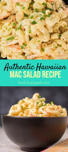This Mac Salad Recipe is Must for GRILLING. If you can't go to Hawaii right now. Bring Hawaii to you. This plate lunch staple will take you there. Hawaiian Luau Food, Hawaiian Plate Lunch, Hawaiian Macaroni Salad, Hawaiian Dishes, Hawaiian Recipes, Hawaiian Chicken, Hawaii Food Recipes, Blue Hawaiian, Mac Salad Recipe