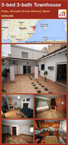 5-bed 3-bath Townhouse in Pego, Alicante (Costa Blanca), Spain ►€239,000 #PropertyForSaleInSpain