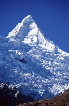 Alpamayo Peak in the Cordillera Blanca, Peru - Tons of Snow!