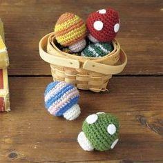 簡単手編み!ストラップにしてもかわいい あみぐるみのきのこの編み方(ニット・編み物) | ぬくもり