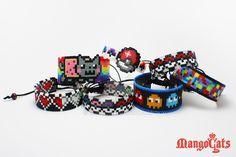 Revamped Hama beads cuff bracelets by uenkii