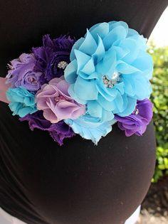 Cinturón faja maternidad Aqua lavanda púrpura marco del