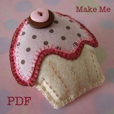 !!!!♥ Feltro-Aholic ♥ Moldes e pap em feltro e feltro estampado!: Coleção de idéias de Cupcakes!!!