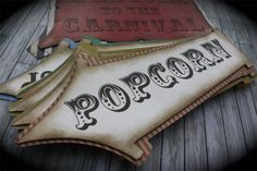 A great addition to any vintage CARNIVAL or CIRCUS party! Listing is for a set of 7 signs including the Welcome to the Carnival sign on top. Carnival Signs, Haunted Carnival, Creepy Carnival, Carnival Themes, Party Themes, Creepy Circus, School Carnival, Carnival Birthday Parties, Circus Birthday