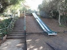 "These are two deceptively steep slides set in the side of the hill in Bernal, which're even more fun because they're ""tucked in a quiet neighborhood where no one can hear you scream, as 30 layers..."