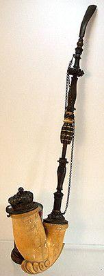 """Huge Antique Multi Part 25"""" German Smoking Pipe Meerschaum Bowl Crown Topper.  #eBay  $266.66"""